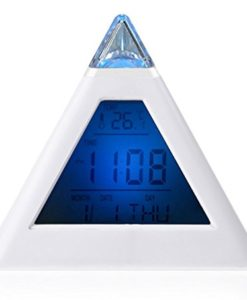Viskey-Creative-LED-6-Colors-Changing-Digital-Alarm-Clock-Thermometer-White-0