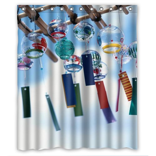 new-promotion-The-angel-of-the-wind-chime-Shower-Curtain-60×72-inch-Intimate-design-0