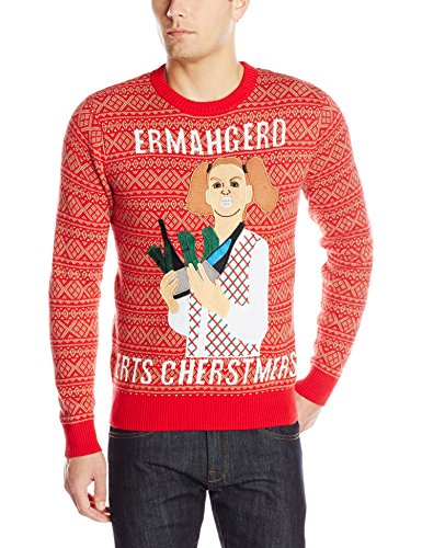 alex stevens mens ermahgerd ugly christmas sweater 0