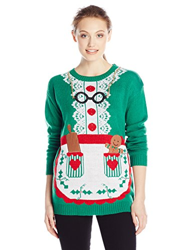 Allison Brittney Women's Long Sleeve Mrs. Clause Ugly Christmas ...