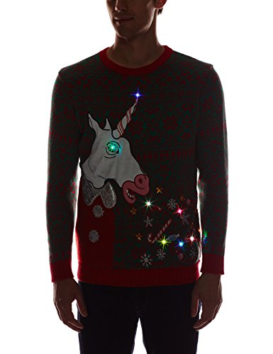 Blizzard-Bay-Mens-Vomiting-Unicorn-Light-Up-Ugly-Christmas-Sweater-0-1