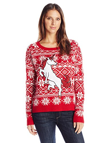 Blizzard-Bay-Womens-Glitter-Unicorn-Ugly-Christmas-Sweater-0