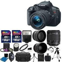 Canon-EOS-Rebel-T5i-180-MP-CMOS-Digital-Camera-Digital-SLR-Camera-and-DIGIC-5-Imaging-with-EF-S-18-55mm-f35-56-IS-Lens-58mm-2x-Professional-Lens-High-Definition-58mm-Wide-Angle-Lens-Auto-Flash-Strong--0
