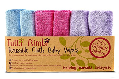 TUTTI-BIMBI-Luxury-SOFT-Baby-Washcloths-Mom-Approved-6-pack-10x10-Larger-Organic-Bamboo-Mini-Towels-Premium-Reusable-Wipes-for-Sensitive-Skin-Baby-ShowerRegistry-Gift-0