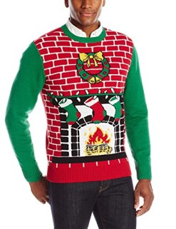The-Ugly-Christmas-Sweater-Kit-Mens-Fireplace-Is-Lit-Light-Up-Sweater-0