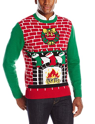 The Ugly Christmas Sweater Kit Mens Fireplace Is Lit Light Up