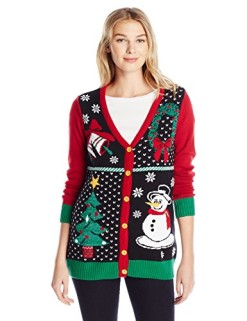 Ugly-Christmas-Sweater-Womens-Button-Front-Christmas-Cardigan-Sweater-0