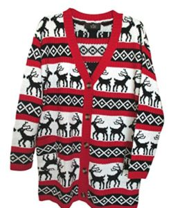 Womens-Oversized-Christmas-Reindeer-Cardigan-0