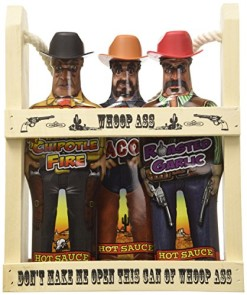 Whoop-Ass-Hot-Sauce-Gift-Set-In-a-Wooden-Crate-All-three-Whoop-Ass-Hot-Sauce-Cowboys-are-packed-into-the-local-saloon-and-theyre-packin-heat-Watch-yourself-pardner-Makes-the-perfect-gift-for-any-Hot-S-0