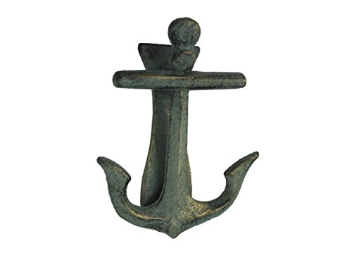 Gentil Antique Bronze Cast Iron Decorative Anchor Door Knocker