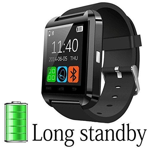 Bluetooth-Smartwatch-PhoneZONSE-Black-Smart-Bluetooth-Wristwatch-with-Camera-for-Smartphones-IOSPartial-functions-iPhone-55S6AndroidFull-functions-Samsung-S5S6etcSupport-SIM-Card-0
