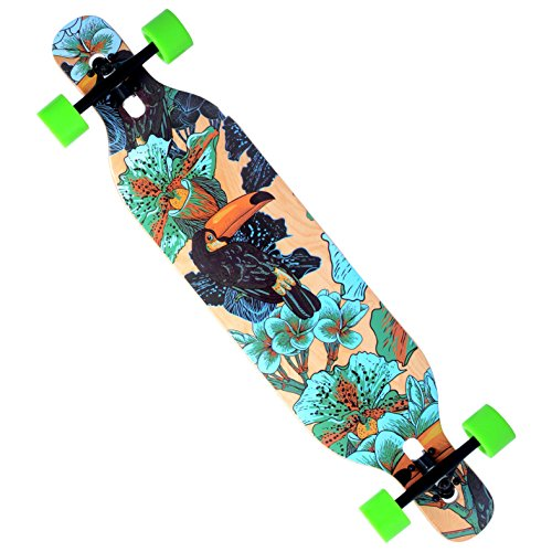 Blunt-Cruiser-Through-Longboard-Skateboard-Complete-Maple-Deck-95-x-42-speed-downhill-0