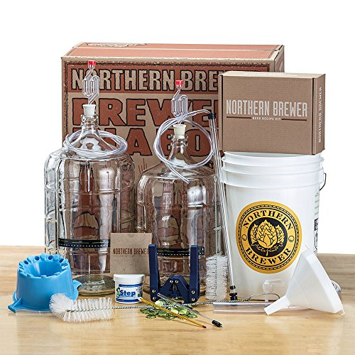 Deluxe-Home-Brewing-Equipment-Starter-Kit-Glass-Carboys-with-Chinook-IPA-Beer-Recipe-Kit-0