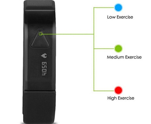 EFO-S-BLACK-K5-Wireless-Activity-and-Sleep-Monitor-Pedometer-Smart-Fitness-Tracker-Wristband-Watch-Bracelet-for-Men-Women-Boys-Girls-Ladies-Man-iPhone-6-Plus-5S-5C-5-4S-iPad-Air-mini-Galaxy-S6-S5-S4-S-0-5