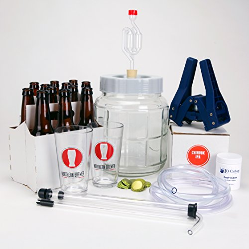 Go-Pro-1-Gallon-Small-Batch-Beer-Brewing-Starter-Kit-Equipment-Set-with-Chinook-IPA-Beer-Recipe-Kit-0