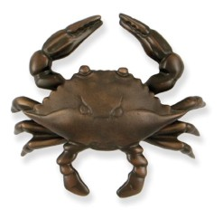 Michael-Healy-Designs-MH1154-Blue-Crab-Door-Knocker-Oiled-Bronze-0