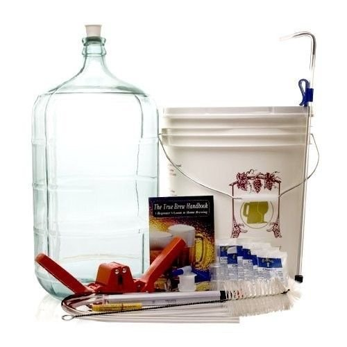 Monster-Brew-Home-Brewing-Supp-Complete-Beer-Equipment-Kit-K6-with-6-Gallon-Glass-Carboy-Gold-0