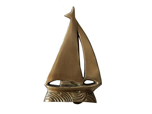 Solid-Brass-Sailboat-Door-Knocker-6-Brass-Door-Knocker-Sail-Boat-Decoration-0