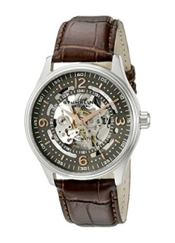 Stuhrling-Original-Mens-73002-Delphi-Automatic-Skeleton-Grey-Dial-Brown-Leather-Watch-0