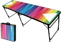 8-Foot-Professional-Beer-Pong-Table-w-Optional-Bluetooth-Speaker-Holes-Color-Spectrum-Graphic-0