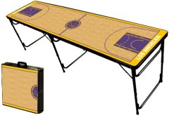 8-Foot-Professional-Beer-Pong-Table-w-Optional-Bluetooth-Speaker-Holes-Los-Angeles-Basketball-Court-Graphic-0