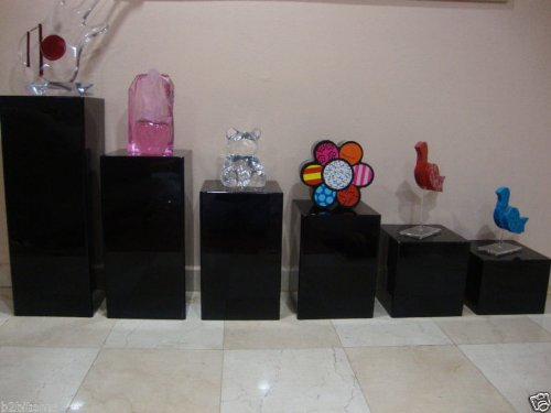Acrylic-Lucite-Display-Cube-Pedestal-Art-Sculpture-Stan-0