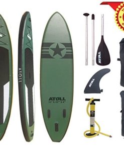 Atoll-110-Foot-Inflatable-Stand-up-Paddle-Board-6-Inches-Thick-Isup-Bravo-Hand-Pump-and-3-Piece-Paddle-Travel-Backpack-0