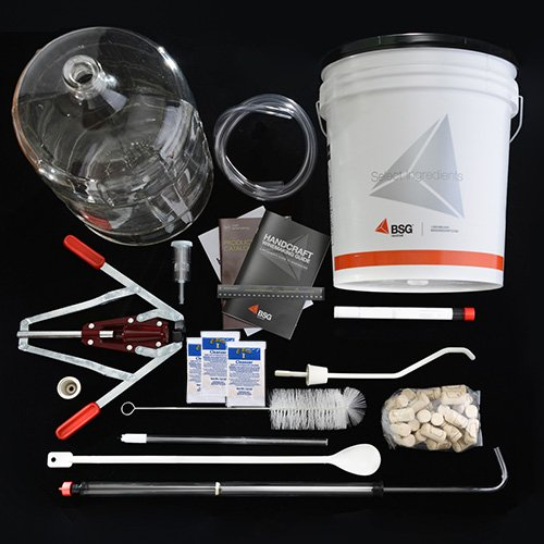 BSG-Hand-Craft-Fine-Wine-Equipment-Kit-with-6-gallon-Glass-Carboy-0