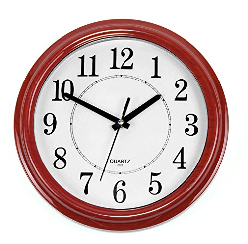 Bekith-Classic-Clock-Quiet-Sweep-Wooden-Pattern-13-Inch-Wall-Clock-0