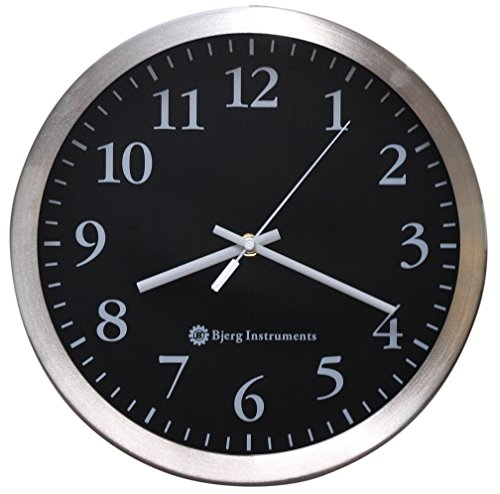 Bjerg-Instruments-Modern-12-Stainless-Silent-Wall-Clock-with-Non-Ticking-Movement-0