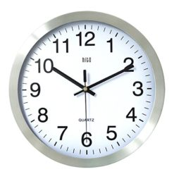 HITO-12-Inches-Silent-Non-ticking-Wall-Clock-w-Metal-Frame-and-Acrylic-Front-Cover-Silver-Arabic-0