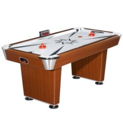 Hathaway-Midtown-Air-Hockey-Table-Cherry-FinishSilver-6-Feet-0