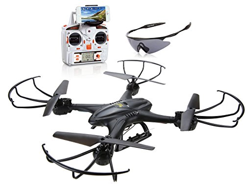 Holy-Stone-X400C-FPV-RC-Quadcopter-Drone-with-Wifi-Camera-Live-Video-One-Key-Return-Function-Headless-Mode-24GHz-4-Chanel-6-Axis-Gyro-RTF-Left-and-Right-Hand-Mode-Bundle-with-Goggles-0