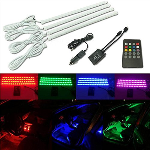 INHDBOX-4pcs-DC-12V-Multi-color-7-Color-Car-Interior-Light-Bulb-LED-Under-Dash-Lighting-Kit-with-Sound-Active-Function-and-Wireless-Remote-Control-0