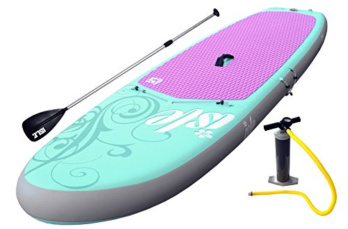 ISLE-Airtech-104-Yoga-Fitness-Inflatable-Stand-Up-Paddle-Board-Package-6-Thick-2-Year-Warranty-On-Materials-31-Wide-Outline-Designed-for-Stability-Supports-Rider-Up-to-200-Pounds-iSUP-Designed-for-the-0