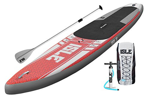 Isle-Airtech-126-Inflatable-Stand-up-Paddle-Board-with-Pump-and-3-Piece-Adjustable-Paddle-6-Thick-Super-Durable-0
