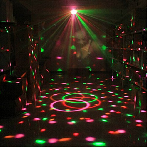 kingso dj light 12 color changing party light 5w rgb sound actived