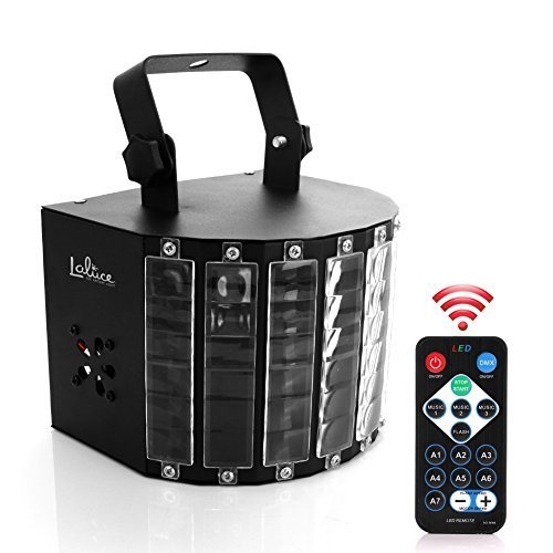 Laluce-27W-Big-Size-8-Colors-9-Leds-Super-Bright-Speed-Adjustable-Voice-activated-Multi-lens-Remote-Control-DMX512-Special-Effects-Lighting-Party-Disco-Stage-Dance-Club-DJ-Stage-Lighting-LED-Strobe-Pr-0