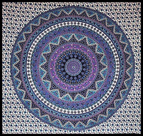 Large-Indian-Mandala-Tapestry-Hippie-Hippy-Wall-Hanging-Throw-Bedspread-Dorm-Tapestry-Decorative-Wall-Hanging-Picnic-Beach-Sheet-Coverlet-0
