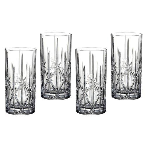 Marquis-by-Waterford-Sparkle-High-Ball-Glasses-22-Ounce-with-Colored-Accent-Set-of-4-Additional-Vibrant-Colors-Available-by-TableTop-0