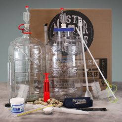 Master-Vintner-Wine-Making-Equipment-Starter-Kit-with-Plastic-Big-Mouth-Bubbler-and-Glass-Carboy-Fermentors-0