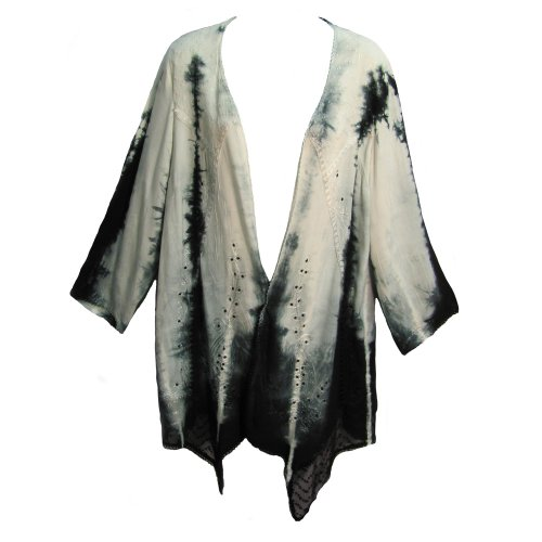 Missy-Plus-Tie-Dye-Stonewashed-Embroidered-Bohemian-Bolero-Jacket-0-0