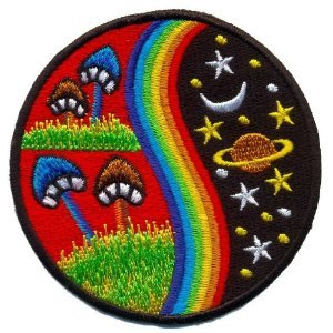 Mushroom-Hippie-Weed-Boho-Retro-Pot-Lsd-Love-Peace-Applique-Iron-on-Patch-T-24-Made-of-Thailand-0
