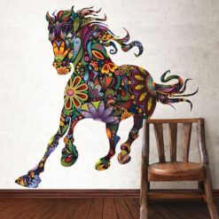 My-Wonderful-Walls-Removable-and-Peel-and-Stick-Colorful-Floral-Horse-Wall-Sticker-Decal-Multicolored-0