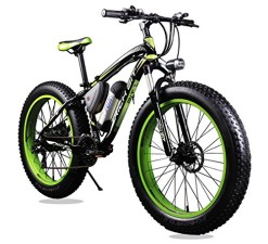New-Updated-Electric-Bike-Black-Green-TP12-36V-350W-Lithium-Battery-Electric-Mountain-Bicycle-with-Shimano-21-Speeds-Fat-Tire-Suspension-Fork-0