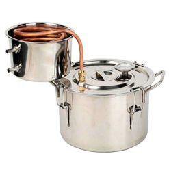 OLizeeTM-2-Gallon-Stainless-Steel-Water-Alcohol-Distiller-Copper-Tube-Moonshine-Still-Spirits-Home-Brew-Kit-Distiller-8L-Wine-Making-Essential-Oil-Boiler-Easy-Operation-0