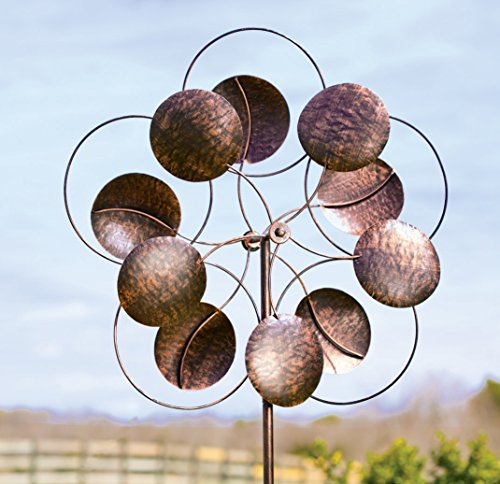 Oversized-Bronze-Circles-Metal-Wind-Spinner-0