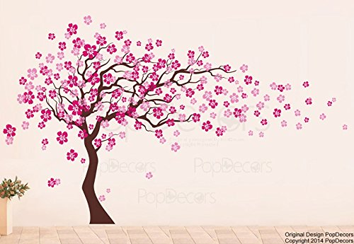 PopDecors-Cherry-Blossom-Tree-83inch-H-Custom-Beautiful-Tree-Wall-Decals-for-Kids-Rooms-Teen-Girls-Boys-Wallpaper-Murals-Sticker-Wall-Stickers-Nursery-Decor-Nursery-Decals-0