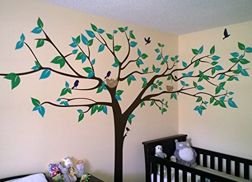 Popdecors super big tree wall decal 133inch w for Girls murals