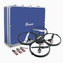 Potensic-Upgraded-UDI-818A-HD-24GHz-CH-6-Axis-Gyro-RC-Quadcopter-with-2-Megapixels-Camera-Return-Home-Function-Multi-Directional-Mode-and-Carrying-Case-0
